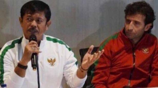 Mantan pelatih Timnas Indonesia U-19 dan U-23, Indra Sjafri dan Luis Milla
