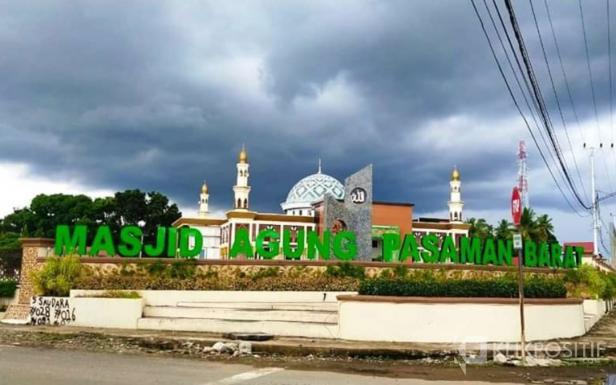 Masjid Agung Pasaman Barat yang terletak di Jorong Pasaman Baru, Kecamatan Pasaman