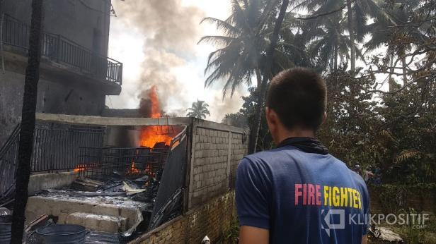 Peristiwa kebakaran di Keluruhan Napar, Kota Payakumbuh, Kamis (16/7).
