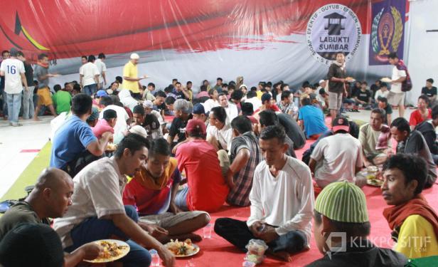 Suasana buka bersama di Lapas Bukittinggi, Senin 19 April 2021