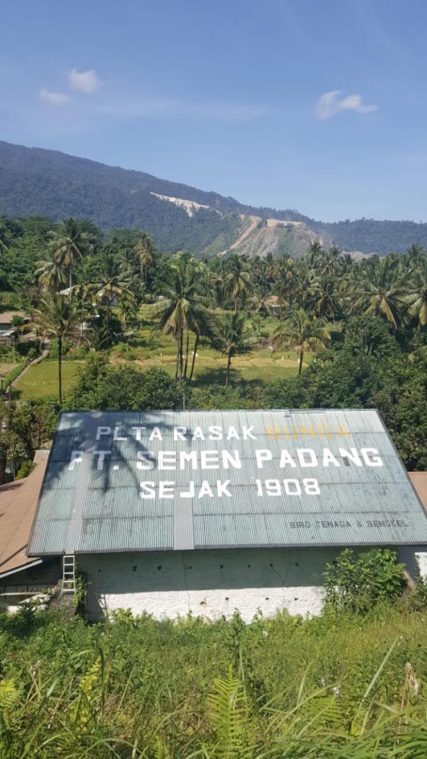 PLTA RASAK BUNGO, salah satu pembangkit milik PT Semen Padang