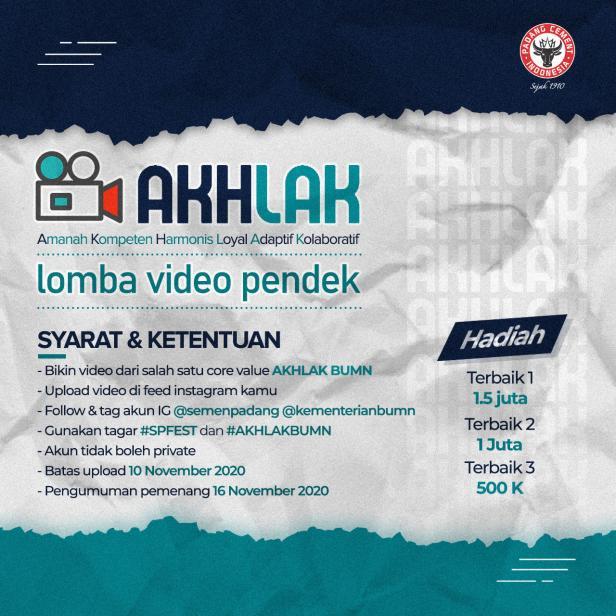 Semen Padang gelar lomba video pendek AKHLAK