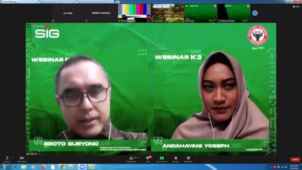 Tangjapan layar webinar Bulan K3 Nasional & Mutu Semen Padang