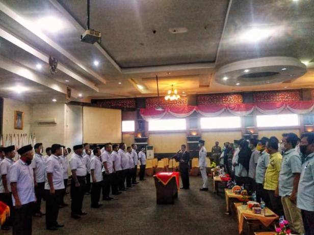 Pelantikan pengurus KONI Kabupaten Solok periode 2020-2024 di Arosuka