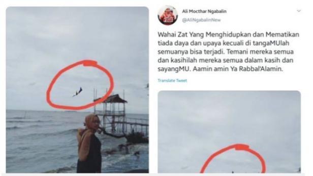 Ali Ngabalin menyebar foto  pesawat jatuh. Foto itu diduga hasil editan.