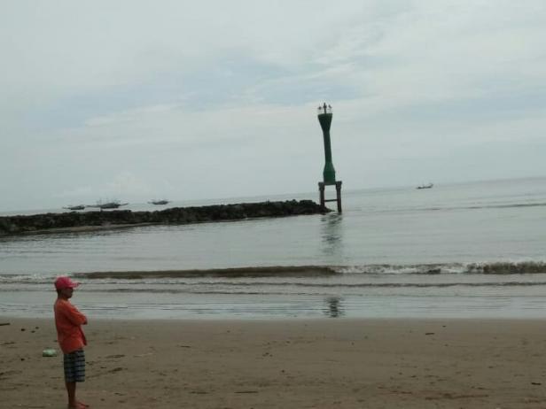 Lokasi awal kejadian hilangnya nelayan asal Nagari Surantih-Pessel