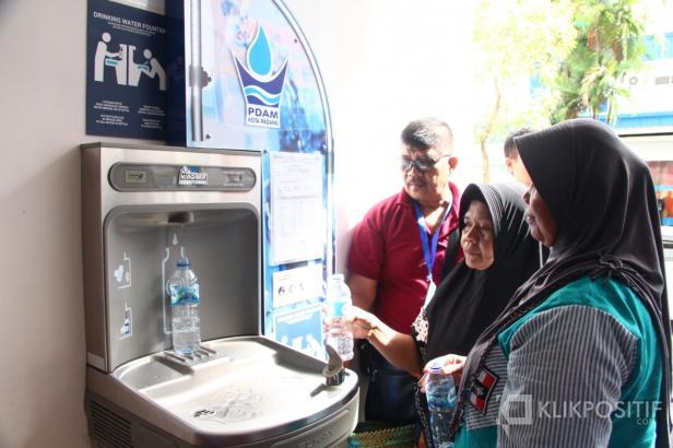 Air siap minum yang ada di RSUP M Djamil Padang