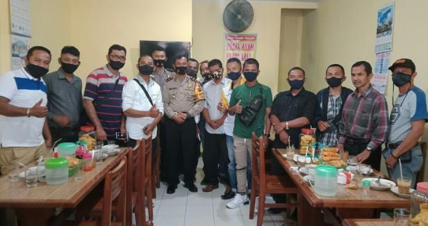 Silaturahmi Kasatlantas bersama wartawan Tanah Datar