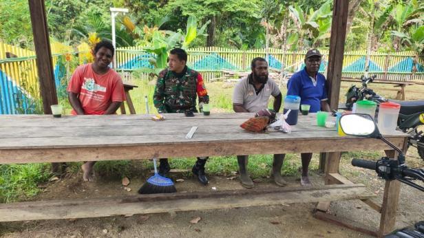 Sinergitas TNI-Rakyat di Pra TMMD ke-111 Kodim 1712/Sarmi