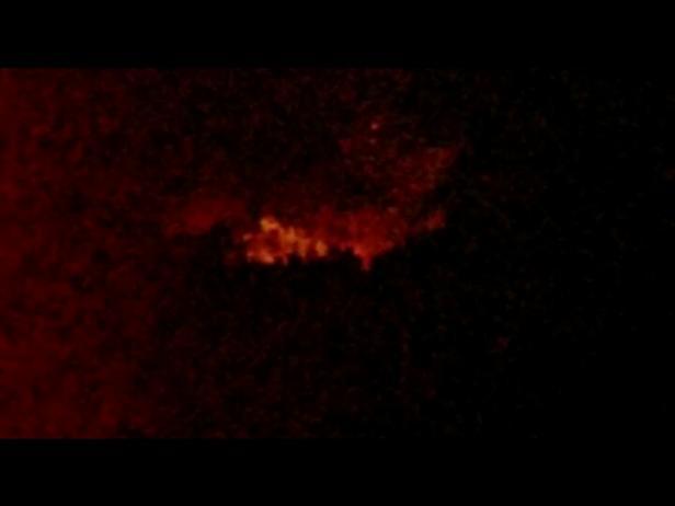 Kobaran Api Karhutla Bukit Selayang Pandang Pessel dari kejauhan malam ini