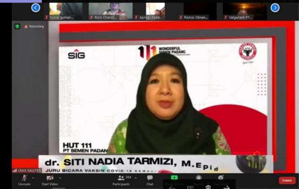 Talkshow Vaksin Covid-19  dengan narasumber dr. Siti Nadia Tarmizi, M.Epid selaku Juru Bicara Vaksin Covid-19 Kementerian Kesehatan RI pada