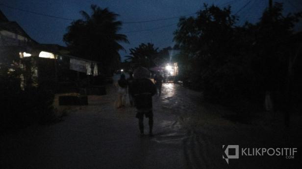 Kondisi banjir di sebagian titik pukul 18.30 WIB