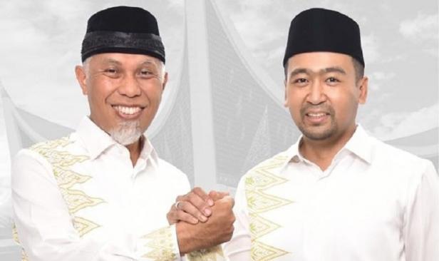 pasangan calon Gubernur dan Wakil Gubernur Mahyeldi-Audy Joinaldy
