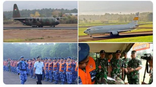 TNI AU telah menyiagakan 2 unit Boeing B737, 1 unit C130 Hercules, dan Batalyon Kesehatan