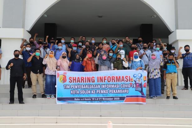 TPI Covid-19 Kota Solok Sharing Informasi ke Pemko Pekanbaru