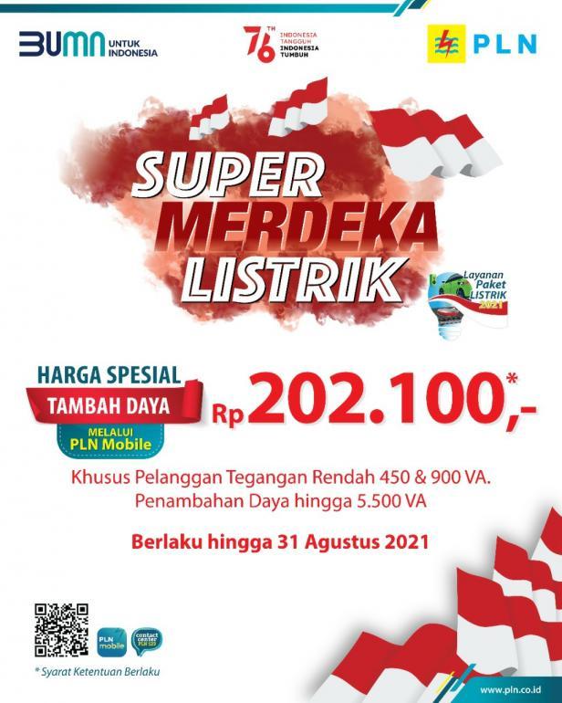 Poster Promo Super Merdeka Listrik dari PLN