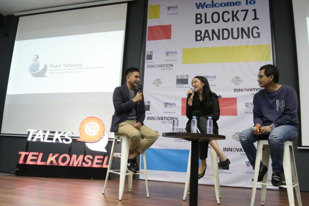Program talk show Talks@Telkomsel hadirkan edisi spesial Millenials Career Talk di co-working space Block 71 Bandung Innovation Room