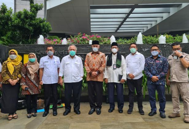 Pertemuan rombongan Pemprov Sumbar dengan Menteri PUPR Basuki