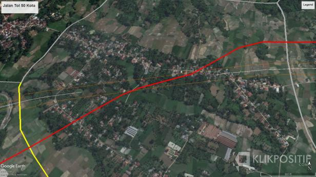 Jalur Tol yang melewati daerah di Gurun, Kecamatan Harau