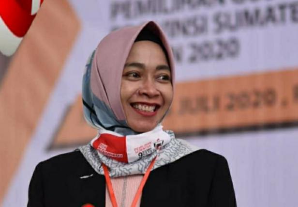 Anggota Komisi Pemilihan Umum (KPU) Sumatera Barat (Sumbar) Yanuk Sri Mulyani