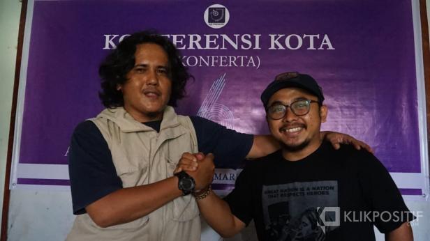 Aidil Ichlas (BeritaSatuTV) dan Ade Suhendra (Klikpositif.com)