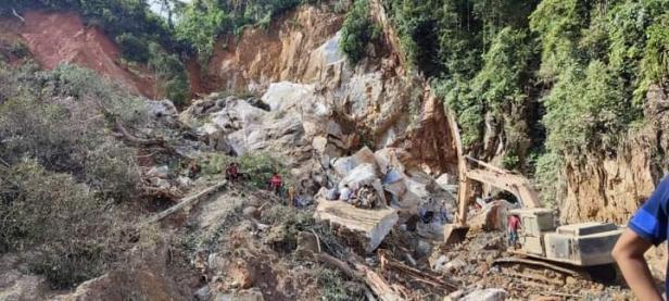Lokasi longsor Tambang emas Timbahan Solsel yang menelan korban jiwa