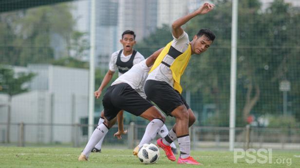 Latihan skuat Timnas Indonesia