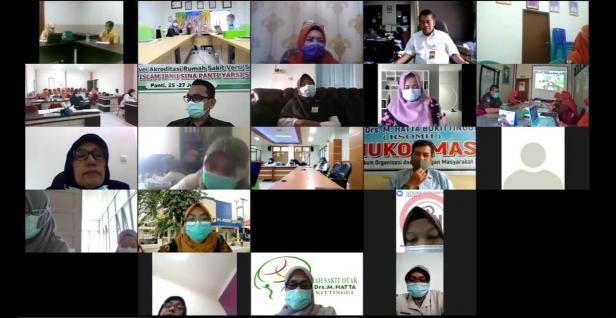 Sosialisasi Pembahasan Draft Perjanjian Kerjasama (PKS) antara BPJS Kesehatan dengan FKRTL mitra untuk Tahun 2021 serta Sosialisasi Peraturan BPJS Kesehatan Nomor 4 Tahun 2020 yang diselenggarakan melalui video conference oleh BPJS Kesehatan Cabang Bukittinggi