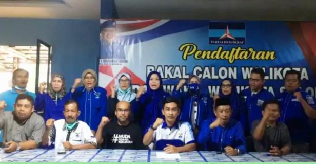 Pernyataan sikap DPC Demokrat Kota Solok yang menolak KLB PD Sibolangit