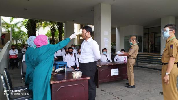 Pelaksanaan SKB di Pemko Padang beberapa waktu lalu