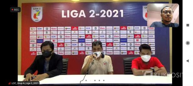Press conference via Zoom usai laga Semen Padang FC kontra Sriwijaya FC