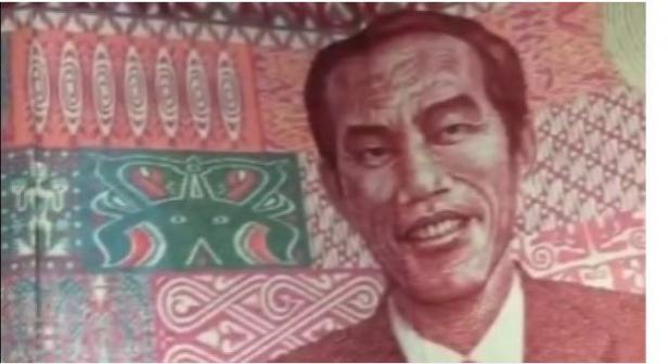 Viral uang redonominasi Rp100 berwajah Jokowi.