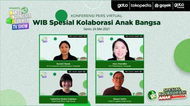 Siaran pers via zoom peluncuran WIB Spesial Kolaborasi Anak Bangsa