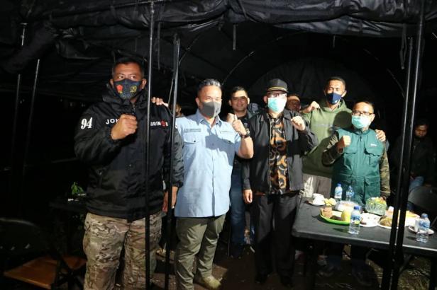 Wakapolda Sumatera Barat (Sumbar) Brigjen. Pol. Edi Mardianto, Pj Sekda Solsel Fidel Effendi dan Kapolres Solsel AKBP Tedy Purnanto usai Pembukaan Kegiatan Perbakin dalam rangka HUT Brimob ke 75