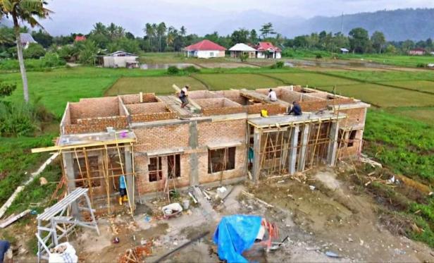 Proses pembangunan di De Balai Baru Residence