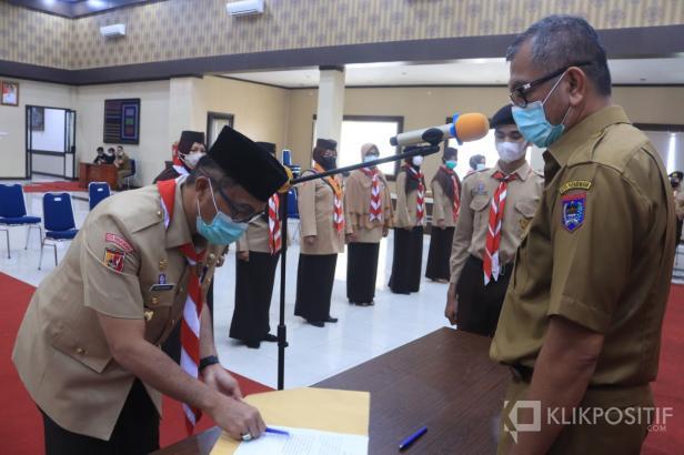 Wali Kota Payakumbuh Resmi Lantik Pengurus Kwartir Cabang 0314 Gerakan Pramuka Kota Payakumbuh masa bakti 2020-2025