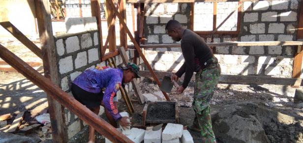 Warga Kampung Dorba Siap Bantu Segala Kegiatan Fisik TMMD