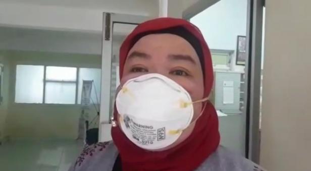 Nurul Aisyiah istri dari Amyosri terduga Suspect Virus Corona