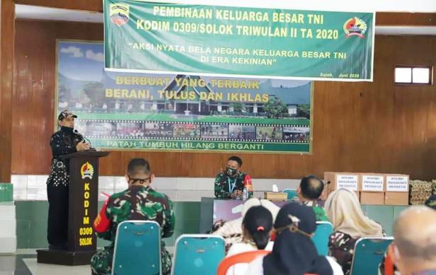Wawako Solok, Reinier buka kegiatan Pembinaan Keluarga Besar TNI di Kodim 0309/Solok
