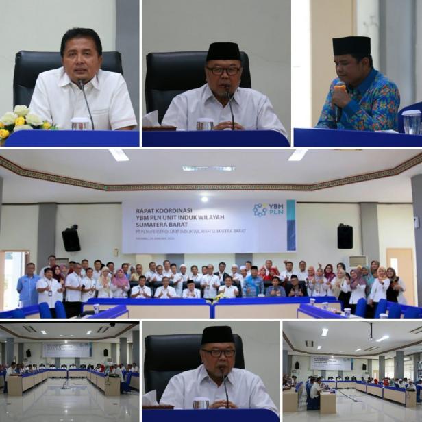Rapat Koordinasi Wilayah YBM PLN Sumatera Barat, Rabu (29/1)
