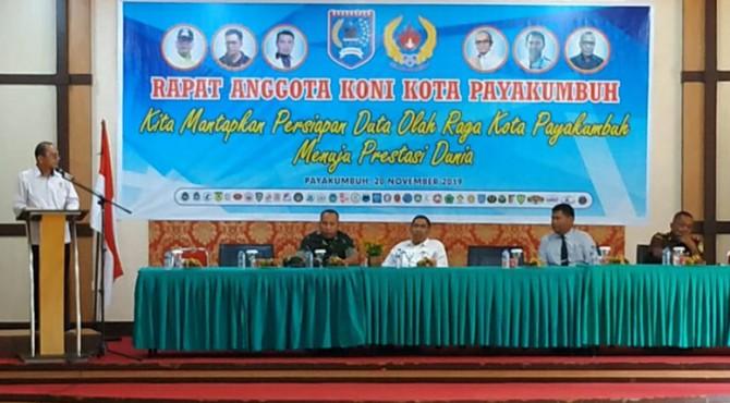 Rapat anggota KONI Payakumbuh.
