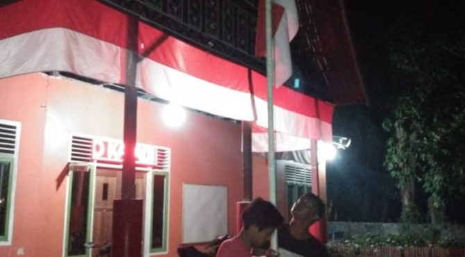 Bendera setengah tiang dikibarkan di Barung-Barung Balantai malam ini