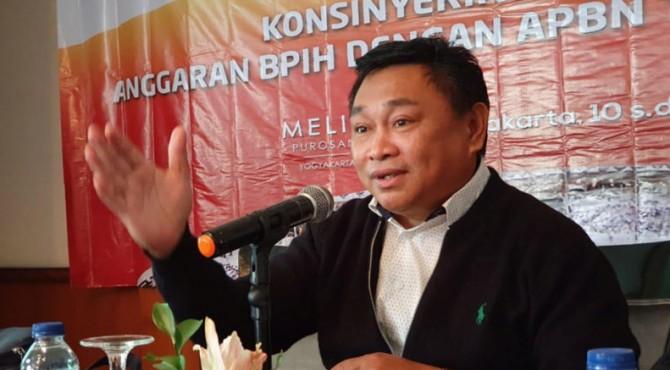 Direktur Pelayanan Haji Dalam  Negeri Kementerian Agama  Muhajirin Yanis