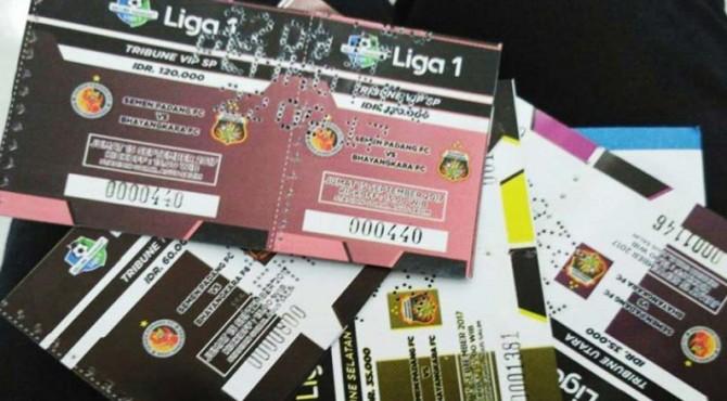 ilustrasi tiket Liga 1