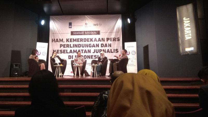 Seminar Nasional HAM Kemerdekaan Pers Perlindungan dan Keselamatan Jurnalis di Indonesia