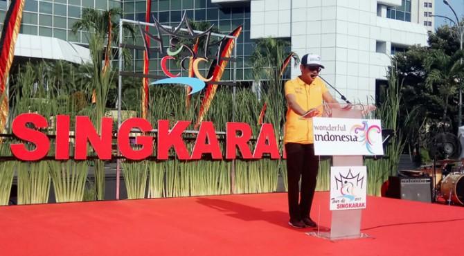 Gubernur Sumatera Barat Irwan Prayitno Launching Tour de Singkarak 2017