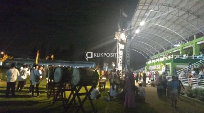 Suasana sebelum pembukaan MTQ Nasional ke 38 tingkat Sumbar di Solok