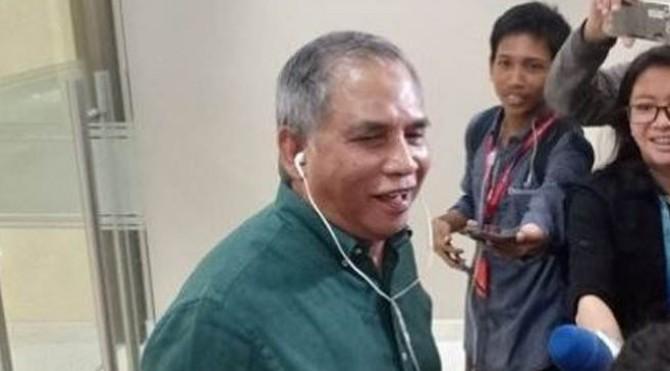 Eks Komandan Tim Mawar, Mayjen TNI (Purn) Chairawan di gedung Bareskrim Mabes Polri, Rabu (12/6/2019).