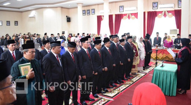 Pelantikan anggota DPRD Kota Payakumbuh periode 2019-2024, 2 September lalu.