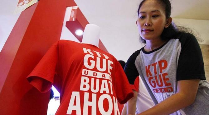 Dukungan KTP yang dikumpulkan Teman Ahok untuk Basuki Tjahaja Purnama